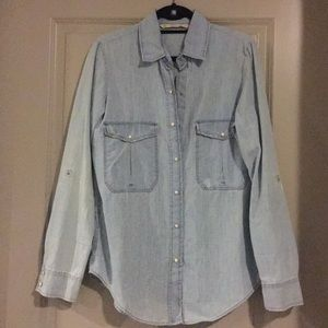 Zara Women Denim button down shirt
